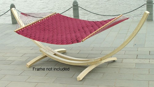Burgundy Basket Weave Extra Large Hammock Free Shipping
