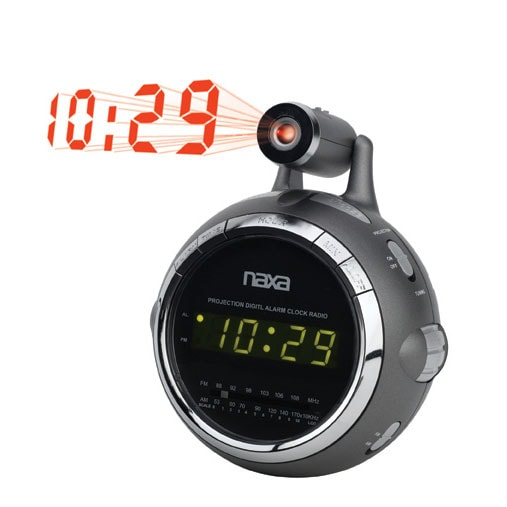 am fm radio projection alarm clock free shipping on. Black Bedroom Furniture Sets. Home Design Ideas