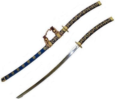 Jin Tachi Blue 44-inch Samurai Sword