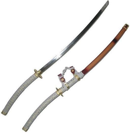 White Jin Tachi 44-inch Samurai Sword