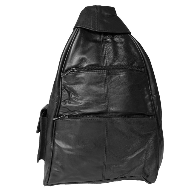 Adi Designs Genuine 16-inch Leather Backpack