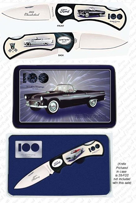 Limited Edition 1955 Ford Thunderbird Knife in Tin