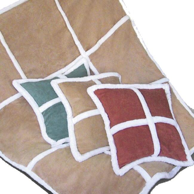 Shearling Throw & Decorative Pillow Set