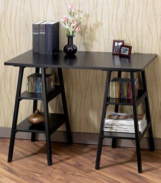 Torrence Black Ladder Writing Desk Free Shipping Today