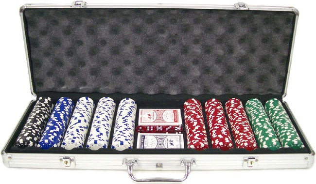King Pin 500-pc. 11.5g Deluxe Poker Set with Aluminum Case