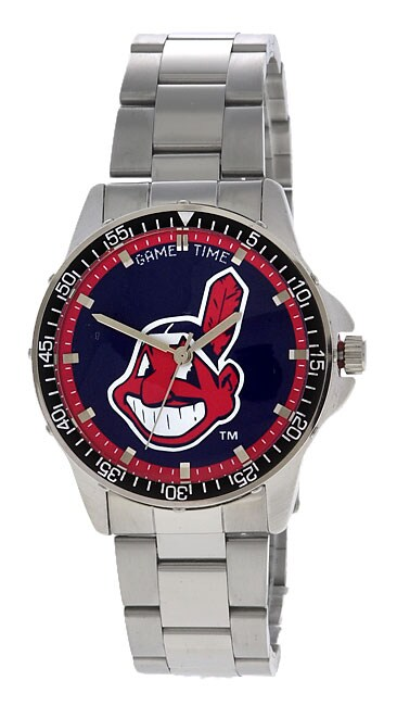 Cleveland Indians Men's Coach Series Steel Watch