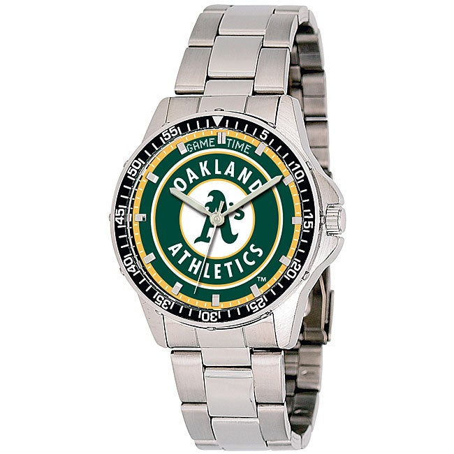 Oakland Athletics Men's Coach Series Steel Watch