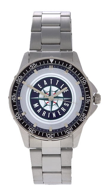 Seattle Mariners Men's Coach Series Steel Watch