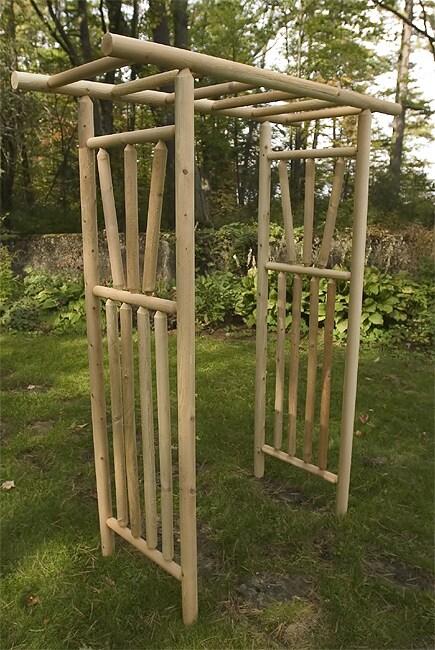 Rustic Log Pole Cedar Adirondack Garden Arbor Free