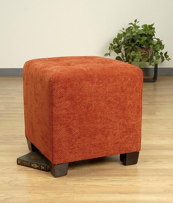 rust orange triangle cube ottoman