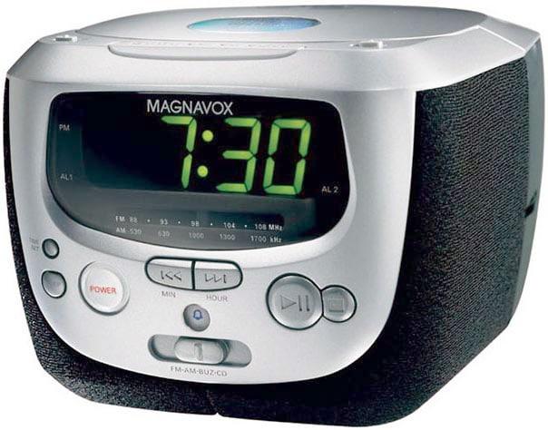 Magnavox MCR230 CD Clock Radio with Dual Alarm (Refurbished)