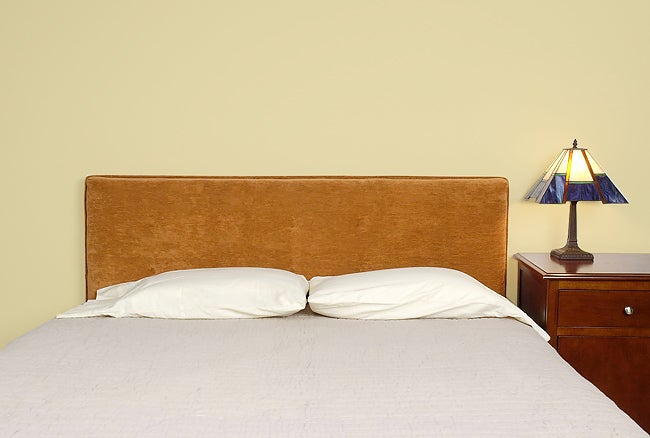 Burnt Orange Corduroy Upholstered Queen Size Headboard