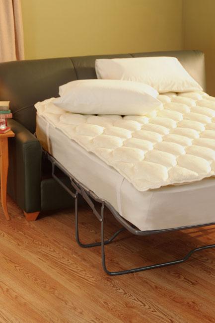 aston sofa sleeper pillow top mattress pad