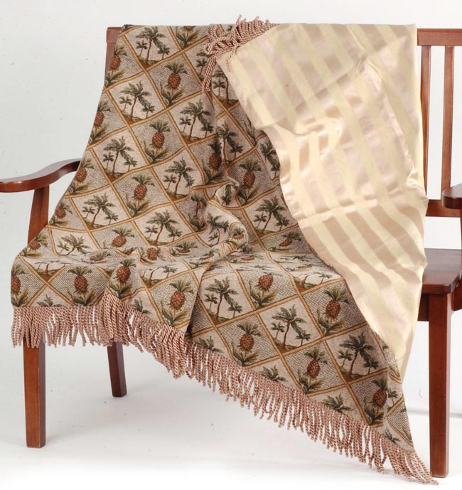 Pineapple Tapestry Woven Throw