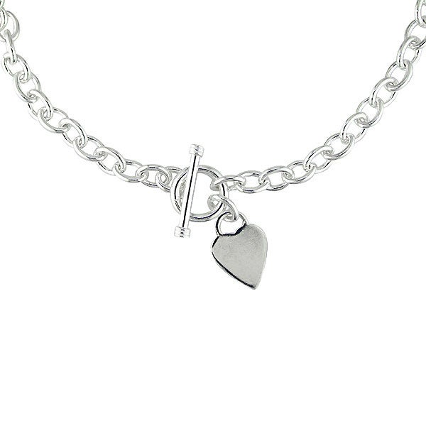 630b900a5 Shop Sterling Silver Heart Toggle Clasp Necklace - Free Shipping Today -  Overstock - 1093395