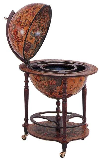 Italian 16th Century Style World Globe Bar