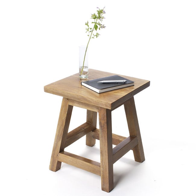 Acacia Wood Side Table/Stool (India)