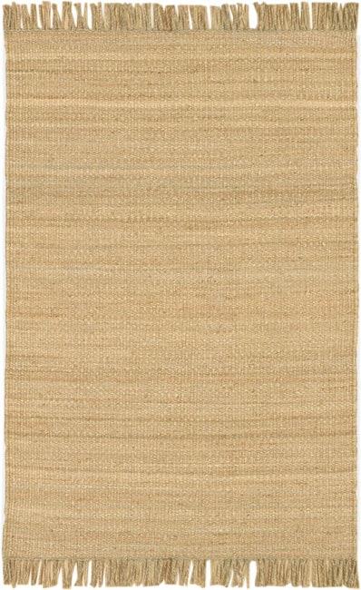 Hand-woven Natural Fiber Jute Rug (5' x 7'6)