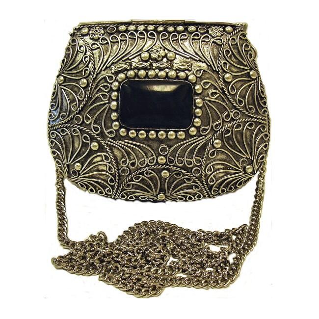 Agate Inlaid Evening Handbag, India (case of 2)