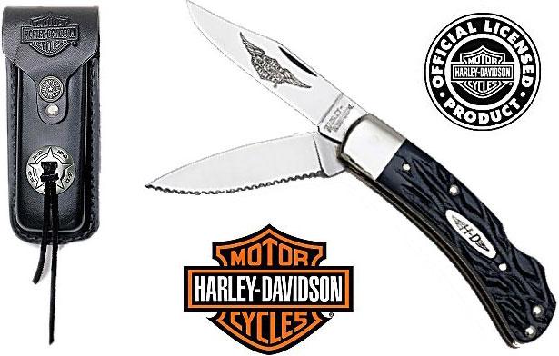 Harley-Davidson Small Double Bladed Lockback Knife