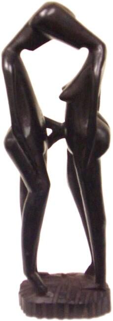 Ebony Wooden Lovers Statue (Tanzania)