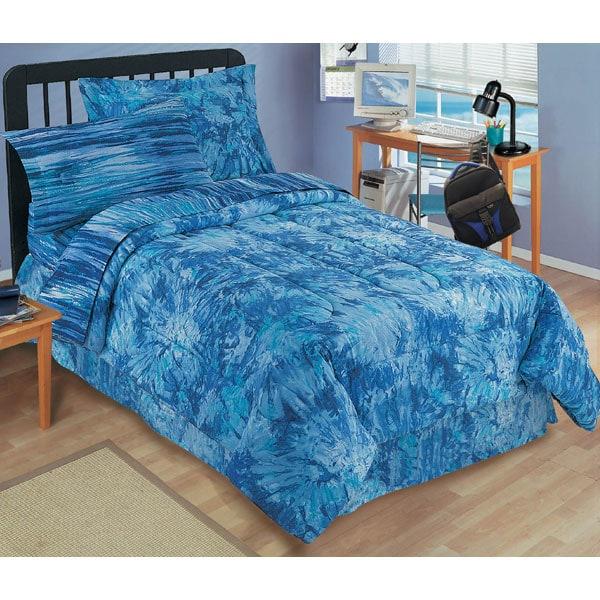Blue Tie Dye Mini-set Comforter