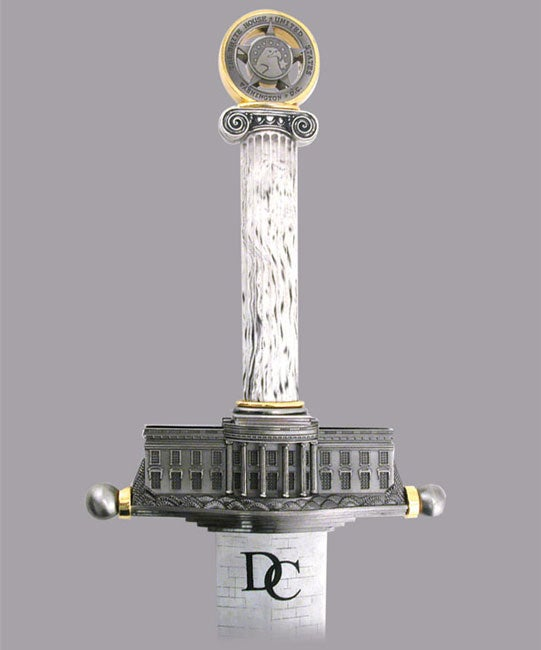 D.C. Monument  Sword with Plaque by Russ Farrell