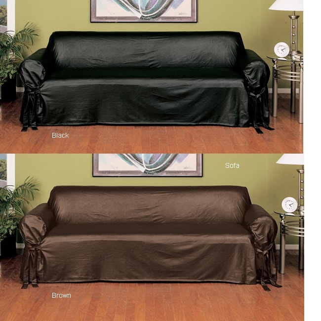Faux Leather Slipcover (Sofa) - Free Shipping Today - Overstock.com - 1015528