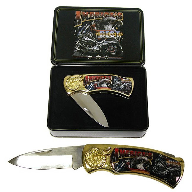 America's Best - Motorcycle Pocket Knife & Tin