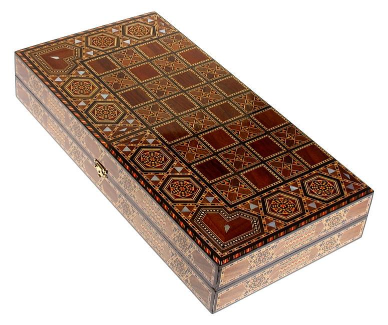 Handcrafted Inlaid Mosaic Backgammon Table Lebanon