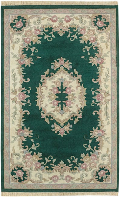Shop Hand Knotted Aubusson Wool Rug 3 X 5 Oval Free Shipping