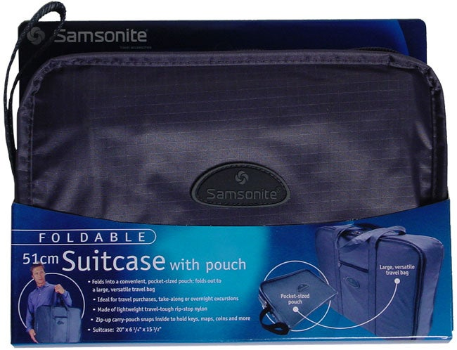 Samsonite Foldable Suitcase with Pouch