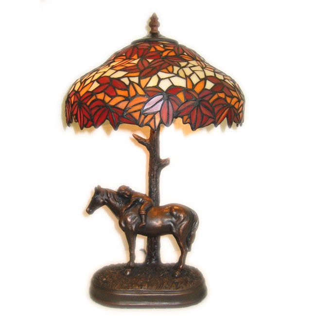 c8644df56 Shop Tiffany-style Horse Base Table Lamp - Free Shipping Today - Overstock  - 1828852