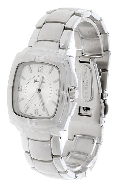 Geneva Platinum Men's Silvertone Watch