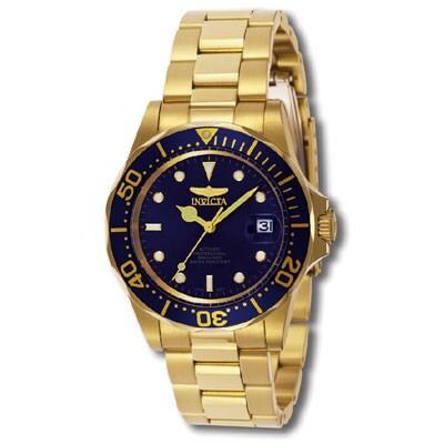 Invicta Men's Men Automatic Pro Diver G3 Blue Gold Tone Automatic Watch