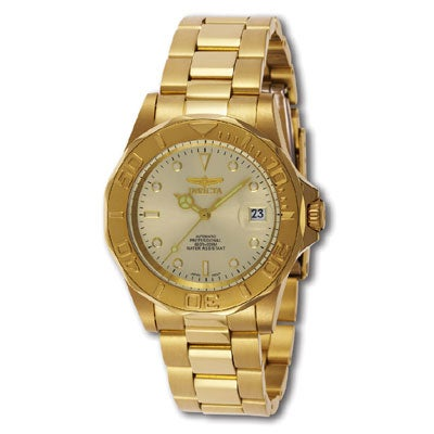 8d8b12b03 Shop Invicta Automatic Pro Diver G2 Men's Goldtone Watch - Free Shipping  Today - Overstock - 1833231