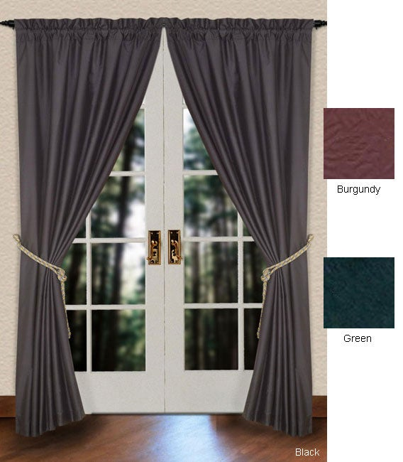 Curtains Ideas 86 inch curtain panels : Faux Silk 86-inch Rod Pocket Curtain Panel Pair - Free Shipping On ...
