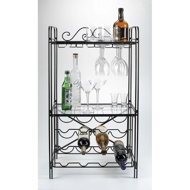 black metal wine glass storage floor wine rack - Metal Wine Rack