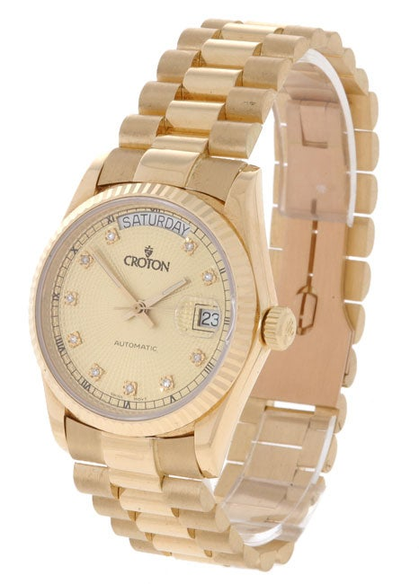 croton men s solid 18 kt gold dress watch shipping today croton men s solid 18 kt gold dress watch