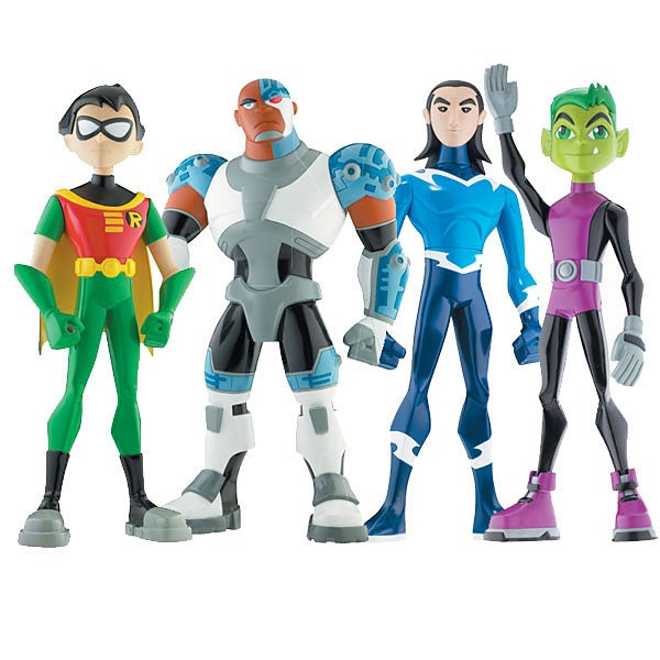 Teen Titans Toys Stuff : Teen titans pack of inch figurines free shipping