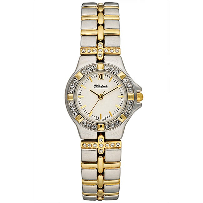 Dufonte by Lucien Piccard Two-tone Crystal Watch