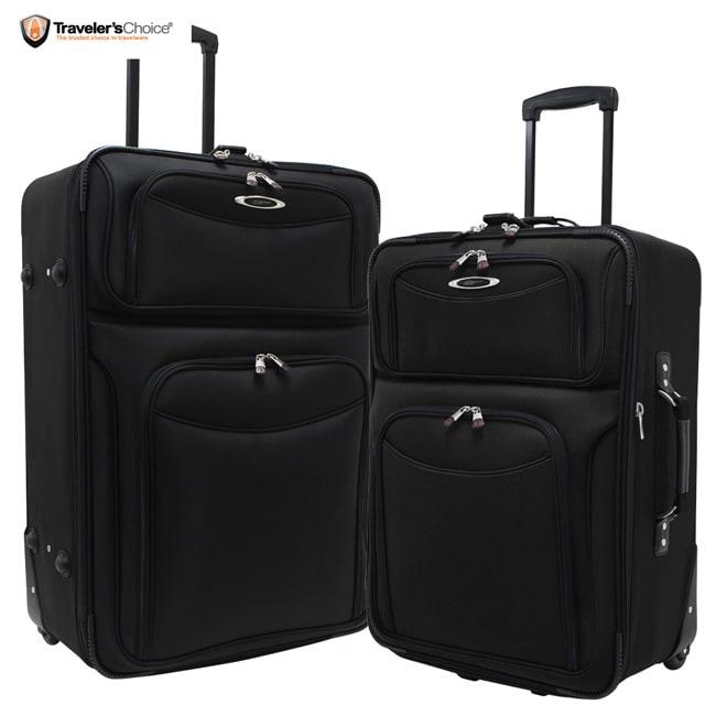 Traveler's Choice El Dorado Deluxe 2 Piece Checked Luggage Set