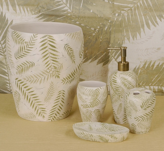 avery bathroom accessory set w shower curtain
