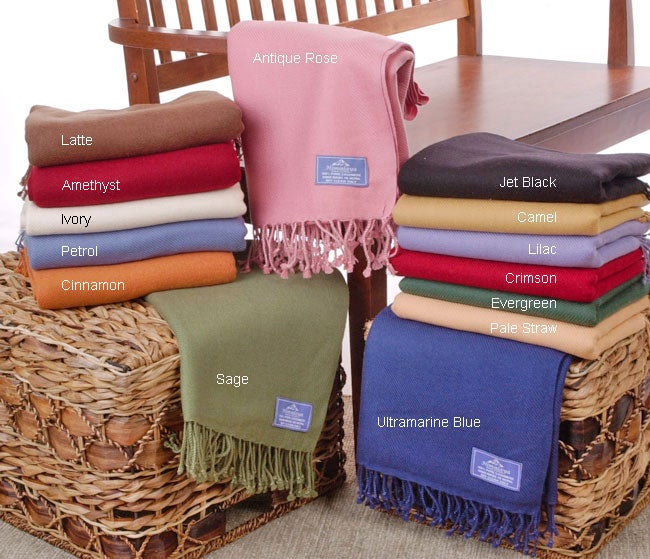 Luxury Himalayan Cashmere Throw Blanket (4-ply)