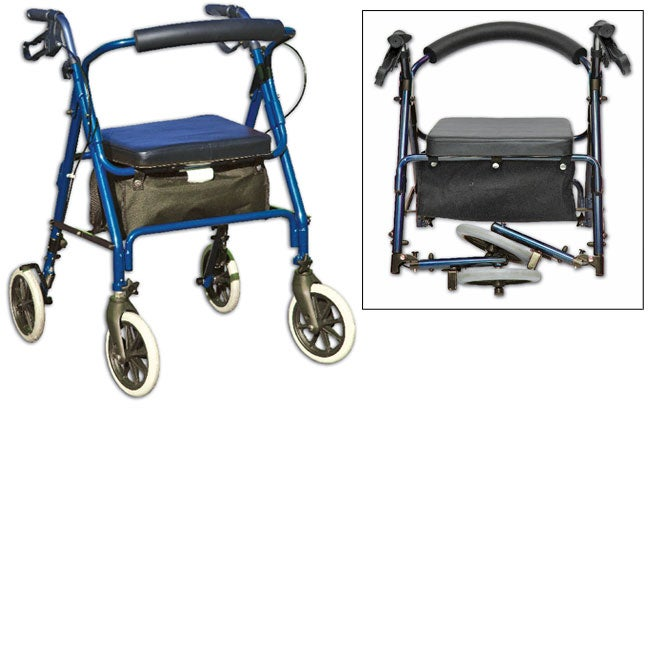 Invacare Compact Blue Travel Rollator