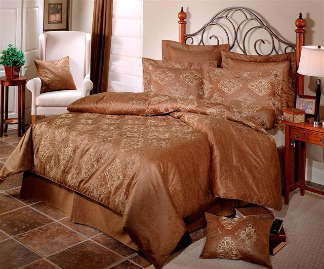 Faux Leather Tribal Luxury Comforter Set - Thumbnail 0