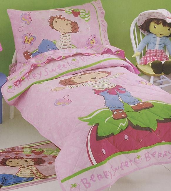 . Strawberry Shortcake 4 piece Toddler Bedding Set