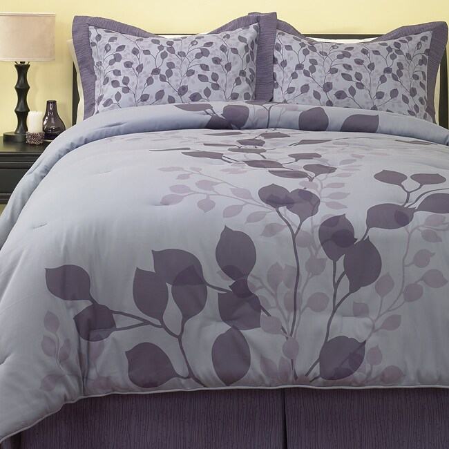Leaf 250 Thread Count Sateen Comforter Set (Full and King)