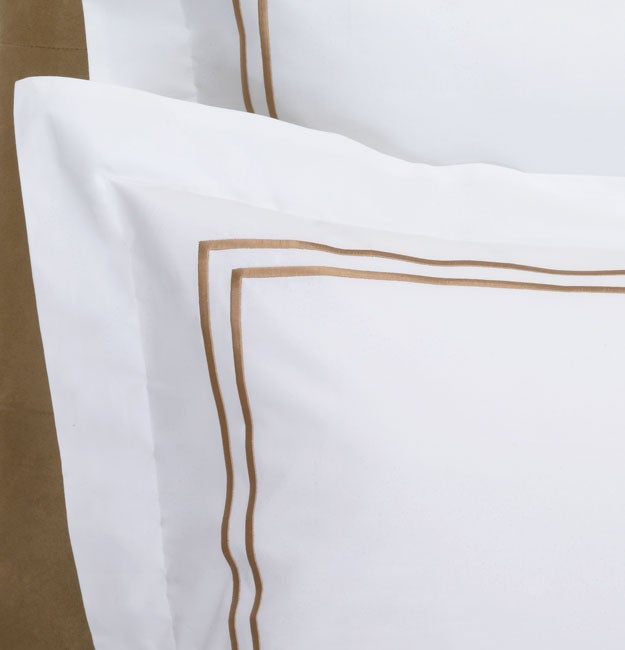 Keeco Luxury Hotel 300 Thread Count Bronze Embroidered Duvet Cover Set