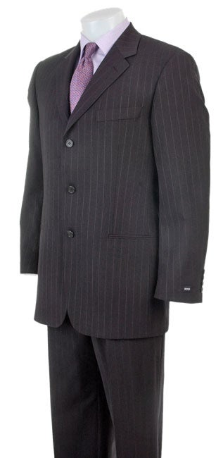 Hugo Boss Men S Black Pinstripe Suit Free Shipping Today